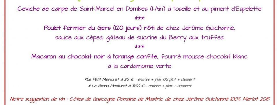 Fête de la Gastronomie Gout de France 2018